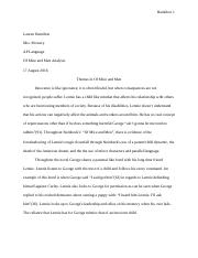 Of Mice and Men Essay.docx