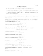 Ring of integers notes