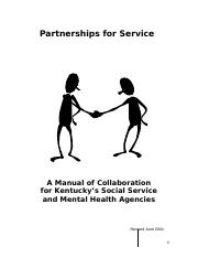 Collaboration Manual for KYs Social Services and Mental Health Agencies