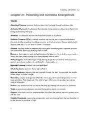 Chapter 21- Poisoning And Overdose Emergencies WORD
