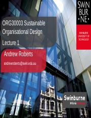 Lecture 1_Unit Overview_Organisational Design Dimensions and Challenges (1)