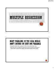 Lecture 5 - Multiple Regression