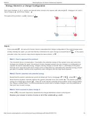 Online Assignment 2 on Electric Potential Energy