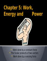 Chapter5notes1_Work, Energy  Power