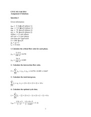 Assignment 6 Solutions - Fall 2014