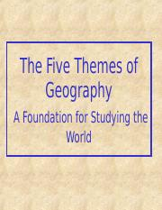 Five Themes of Geography.ppt