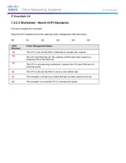 7.3.1.3 Worksheet - Match ACPI Standards