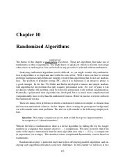 10 Randomized Algorithms
