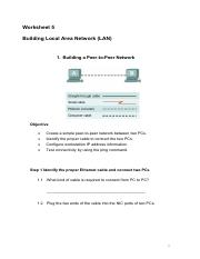 Worksheet5 Building LAN