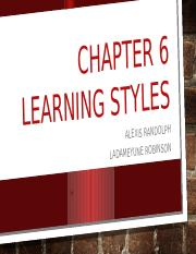 Chapter 6: Learning Styles