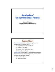 Lecture 7 Analysis of Unsymmetrical Faults