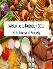 Week 1 - Intro and Eating a Healthy Diet Nutrition 1010F15.pptx