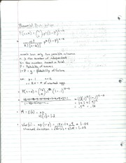 Binomial Distribution Notes