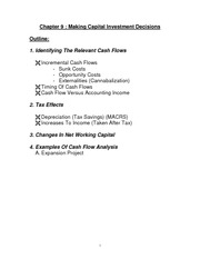 Financial Accounting Lesson 9 class notes, Making Capital Investment Decisions