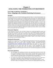 Marketing Principles Solution Manual Chapter 3