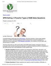 SPIN Selling_ 4 Powerful Types of B2B Sales Questions _ VA Partners