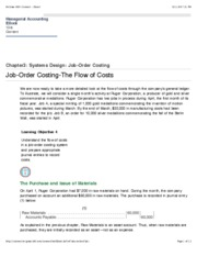 Job-Order Costing-The Flow of Costs