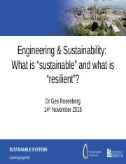 What is Sustainable and Resilient 2016 Ges Rosenberg.pptx