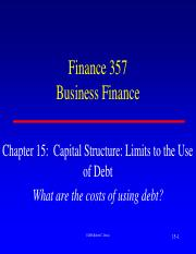 15. Notes Capital Structure Limits to the use of Debt Spring 2017 (1)