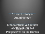 AAAA1-2.30 History and Ethnocentrism