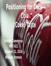 Debbie Cummings Positioning for Coca-Cola2