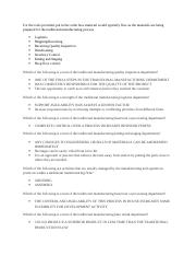 MGMT333 MATERIALS PLANNING TRADITIONAL MANUFACTURING DEPTS INTELIPATH REVIEW.docx