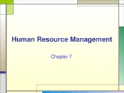 Chapter 7 Human Resource Management
