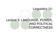Ling 21 - Lecture 5 - Language