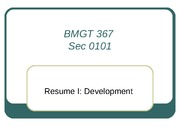 Class 3-Resume 1 Development_Fall11