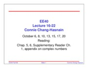 EE40_Fall08_Lecture16-22