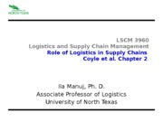 Role of Logistics Ch 2