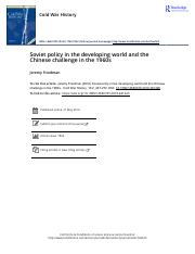 10 - 2 Friedman - 2010 - Soviet Policy in the Developing World and the Chin.pdf