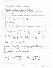 Origin of Complex Numbers