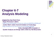 Analysis Modeling Ch6-7