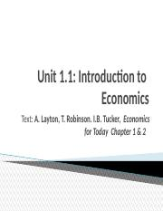 2015 Economics Lectures Semester 1 Unit 1 1 Intro to Econ.ppt