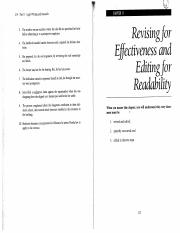 Discussion 8-Revising for effectiveness and editing for readability