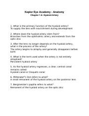 Chapter 1.6 Hyaloid Artery