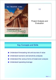 ch 11 (Project Analysis)