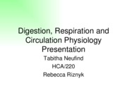 Assignment Physiology Presentation