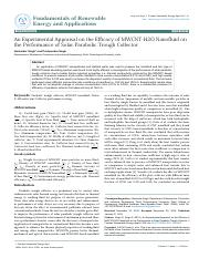 an-experimental-appraisal-on-the-efficacy-of-mwcnth2o-nanofluid-on-the-performance-of-solar-paraboli