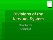 Divisions of nervous syst