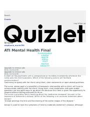 ATI Mental pdf - Mental Health ATI Final Study online at