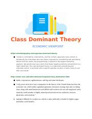 Class dominant theory.docx