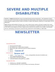 SEVERE AND MULTIPLE NEWSLETTER