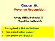 MGA301 Ch18-Lecture RevenueRecognition