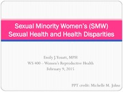 Lecture 5 Sexual Minority Women's Sexual Health and Health Disparities