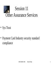 11 - Other Assurance Services.ppt