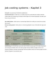 Kapitel 3 - Job costing systems.docx