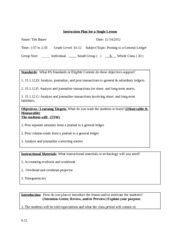 Instruction Plan for a Single Lesson 3[1]