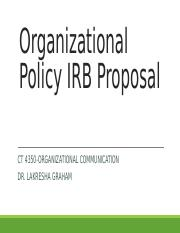 Organizational Policy IRB Proposal Information.ppt